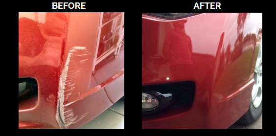 corner scrape before and after