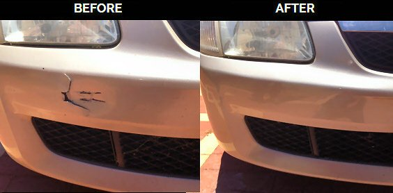 Cracked Bumper Repaired
