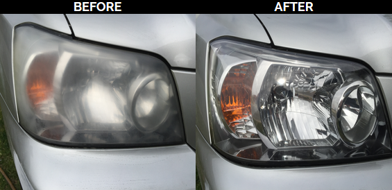 Faded headlights repaired