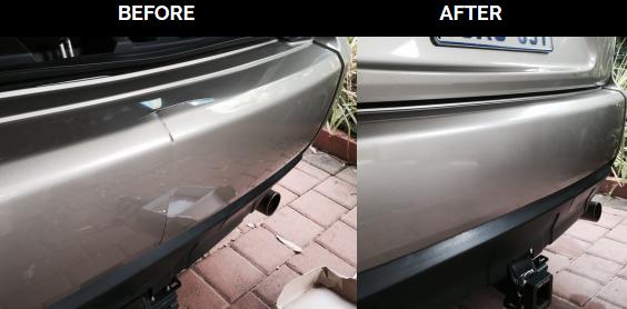 bumper crack splits repaired