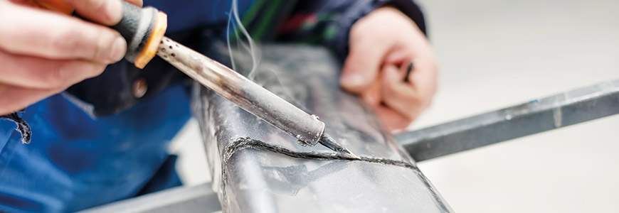 Plastic Welding a Split Bumper