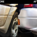 damaged bumper restored