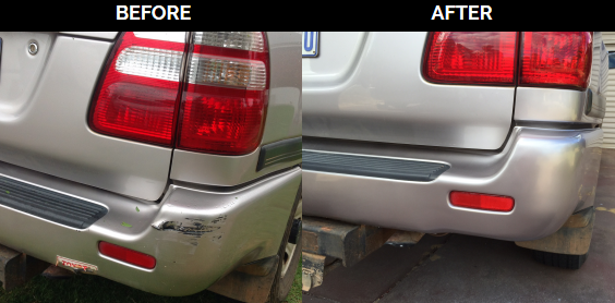 Scraped Landcruiser Bumper Gets Back Its Shine