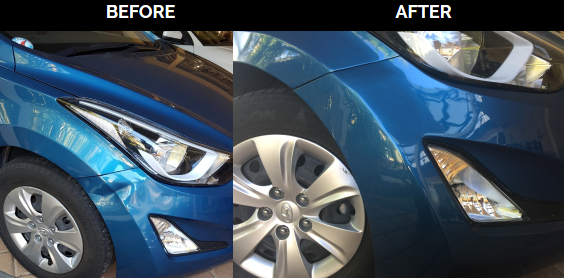 Wheel Arch Corner Dent Fixed