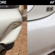 pushin dent repaired before and after